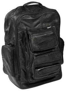 18 Pilot Bag Carry on Leather Luggage Suitcase Wheels