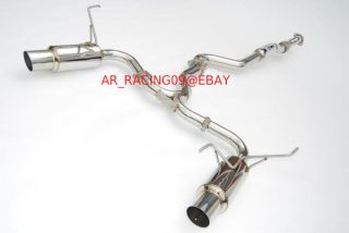 Invidia N1 Dual Stainless Steel Catback Exhaust 08 09 10 11 12 13 WRX