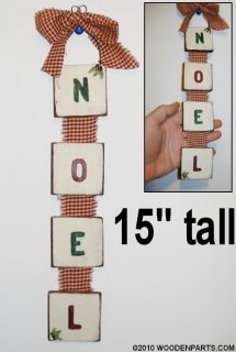 15 Noel Christmas Hanging Sign Wood Decoration