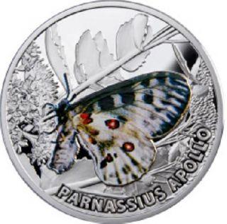 Niue 2010 1$ Butterflies 28 28g Silver Apollo