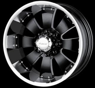 18x10 Black Wheel Mazzi Hulk 8x170 Ford 8 Lug Rims