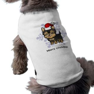 Christmas Yorkie (puppy with bow) pet clothing by SugarVsSpice