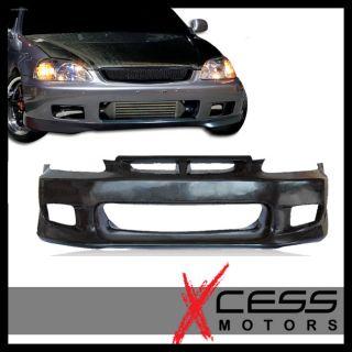 99 00 Honda Civic EK JDM Black Poly Urethane Full Front Bumper Bodykit