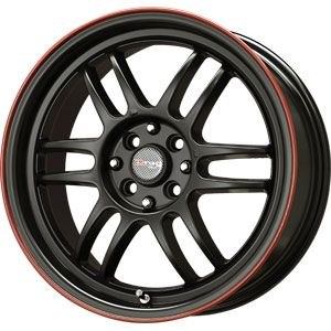 New 15x7 4x100 Drag Dr 21 Black Wheels Rims