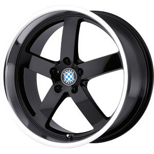 New 18X8.5 5 120 Rapp Gloss Black Machined Lip Wheels/Rims