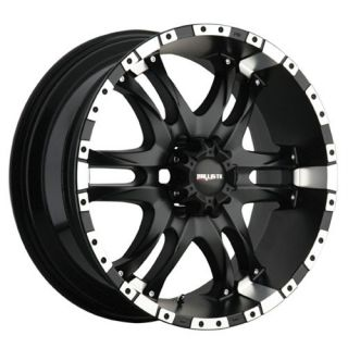 20 inch 20x9 Ballistic Wizard Black Wheels Rims 6x135