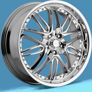 17 inch Menari Inferno Chrome Wheels Rims 5x4 25 5x108