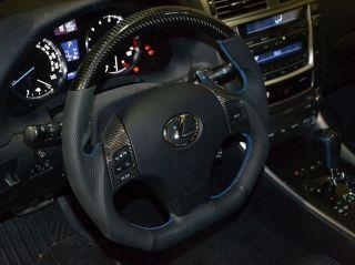 BLACK Carbon flat bottom sport steering wheel for Lexus IS250, IS350