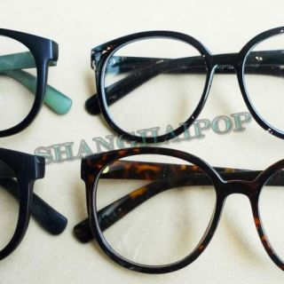 Fashion Glasses Large Round Frame Rim Style Nerd Geek Girl Lady