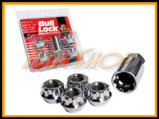 BULL LOCK 12X1.5 1.5 ACORN WHEELS RIMS LOCK LUG NUTS OPEN END CHROME L