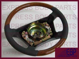 W210 1996 1999 1997 E320 E430 Mercedes Steering Wheel Wood Gray Grey