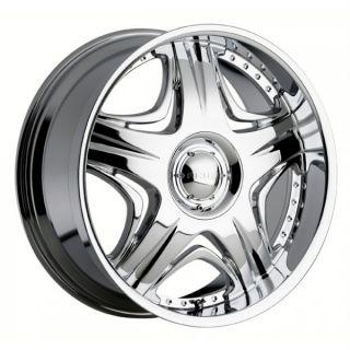26 inch Akuza Sting Chrome Wheels Rims 5x5 5 5x139 7
