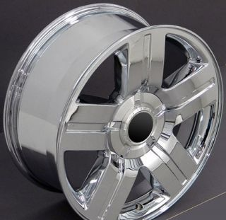 Chrome Texas Wheels Goodyear 275 55 20 LS2 Tires Rims Fit Chevy GMC