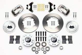 Wilwood Disc Brake Kit Front 49 54 Chevy 11 Rotors Polished Calipers