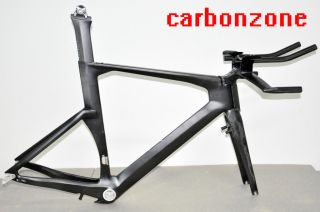 2013 New Di2 Full Carbon Triathlon Time Trial TT Bike Frame Fork