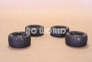 RC 1 10 Buggy Rims Tires Wheels Kyosho Tamiya Staggard Block