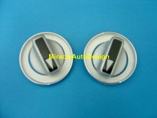 MERCEDES BENZ W124 METAL A/C SWITCH COVERS + CHROME RIMS + WHITE FACES