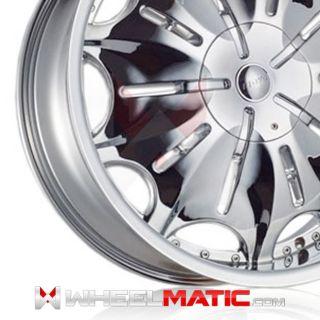 24 5x115 127 Hoyo H3S Chrome Wheels Rims Well Beat Any Price
