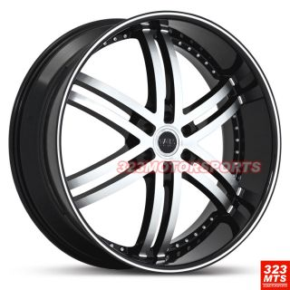24 inch Rims Wheels Status S817 Knight Wheels Silverado SUV Tahoe