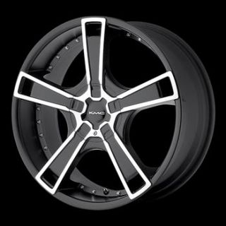 17x7.5 Black KMC KM663 Wheels 5x4.25 5x115 +45 CADILLAC EL DORADO CTS