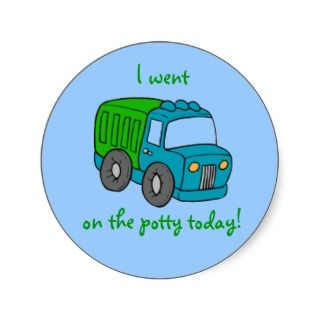 Potty Training Reward Sticker  Truck