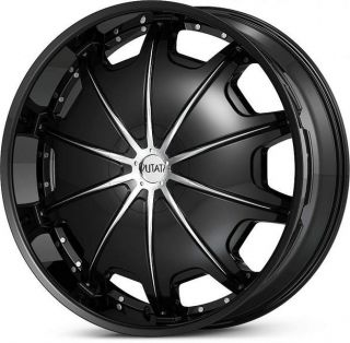 28x9 5 Black Status Opus Wheels Rims Chevy GMC Sierra Dodge 2500 3500