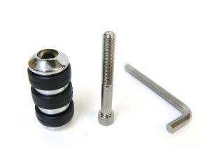 Long Black Chrome ISO Anti Vibration Foot Shift Shifter Peg for