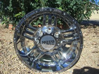 18 inch 18x9 8x170 Chrome Rims 8 Lug Wheels Ford F250 F350 Truck Moto