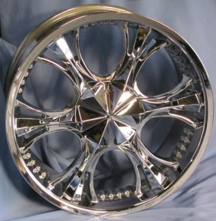 Used 20 Verde Chrome Wheels 20x9 Truck Rims