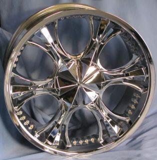 Used 20 Verde Chrome Wheels 20x9 Truck Rims