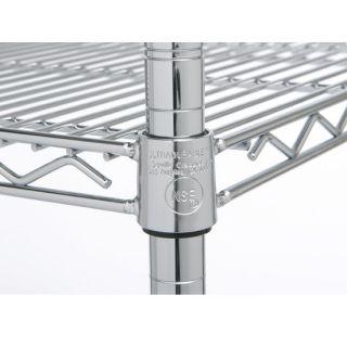 Classics 4 Shelf Chrome Wire Shelving System w Wheels Storage