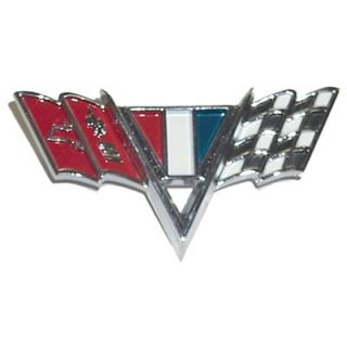 Goodmark 4030 130 644 Emblem, Chrome, Fender, V Flags Logo, Chevy