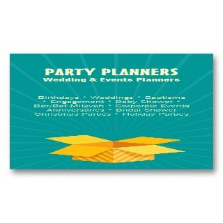 Events Planner/Organizer Business Card Template