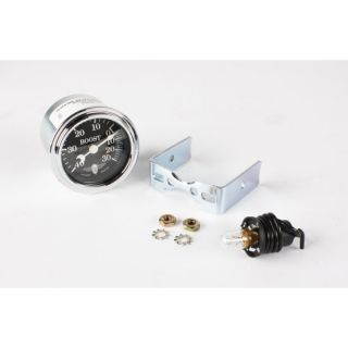 New Stewart Warner Wings Boost Gauge Only Black