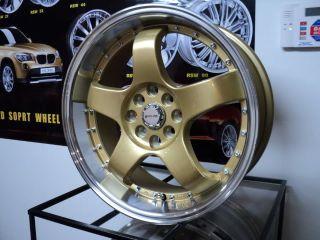 Honda Civic Accord 17 Rims Wheels Set 17x6 5 4 X100 4x114 3 38 Offset