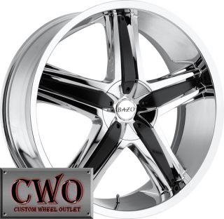 24 Chrome Bazo B501 Wheels Rims 6x135 6x139 7 6 Lug Expedition Tahoe