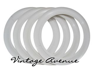 Vintage Collector Car Automobile White Wall Tires 13
