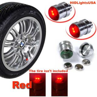 Red LED Neon Wheel Lights Tires Valve Stem Cap Rim Tire