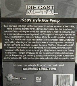 Gear Box Toys Cadillac Gas Pump 1950s Style 126