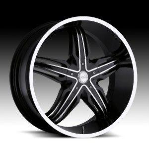 24 inch Milanni Phoenix Black Wheels Rims 5x150 30