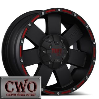 16 Black Tuff T 02 Wheels Rims 6x139 7 6 Lug Tundra Titan Chevy GMC
