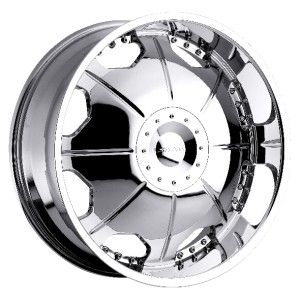 22 inch Strada Mirror Chrome Wheels Rims 6x5 6x127 Trailblazer Envoy