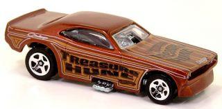Dodge Challenger Funny Car Metalflake Dark Brown Gold, Black, Silver
