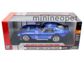 Collectibles 1965 Shelby Cobra Daytona Coupe 1 18 Blue Chrome with