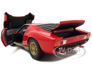 Brand new 1:18 scale diecast model of 1971 Lamborghini Miura SV Red