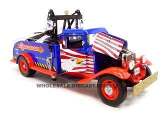 1934 Ford Tow Truck Red 1 24 Diecast Model