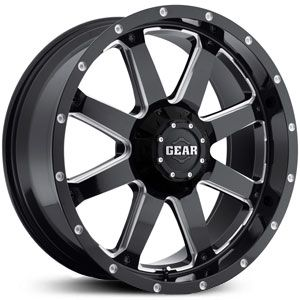 Block Wheels 6 Lug 6x5 5 139 7mm 135mm Black Rims Ford Chevy