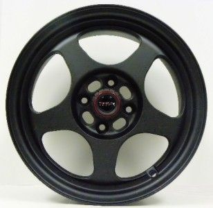 15 Track Race Light Weight Black Wheels Tires 4x100
