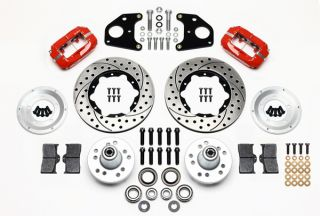 Wilwood Disc Brake Kit Front 68 71 Super Bee 11 Drilled Rotors Red