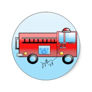 Kids Fire Truck Sticker